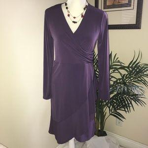 Covington Faux Wrap Stretch Dress